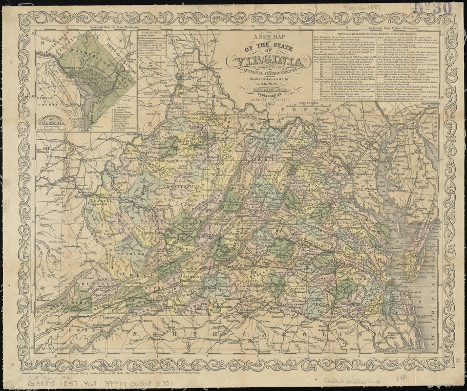 A new map of the state of Virginia