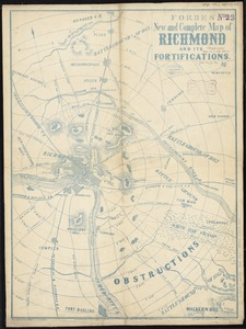 Forbes' new and complete map of Richmond and its fortifications