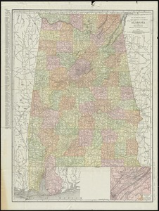 The Rand-McNally new commercial atlas map of Alabama