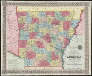 Colton's railroad & township map of Arkansas