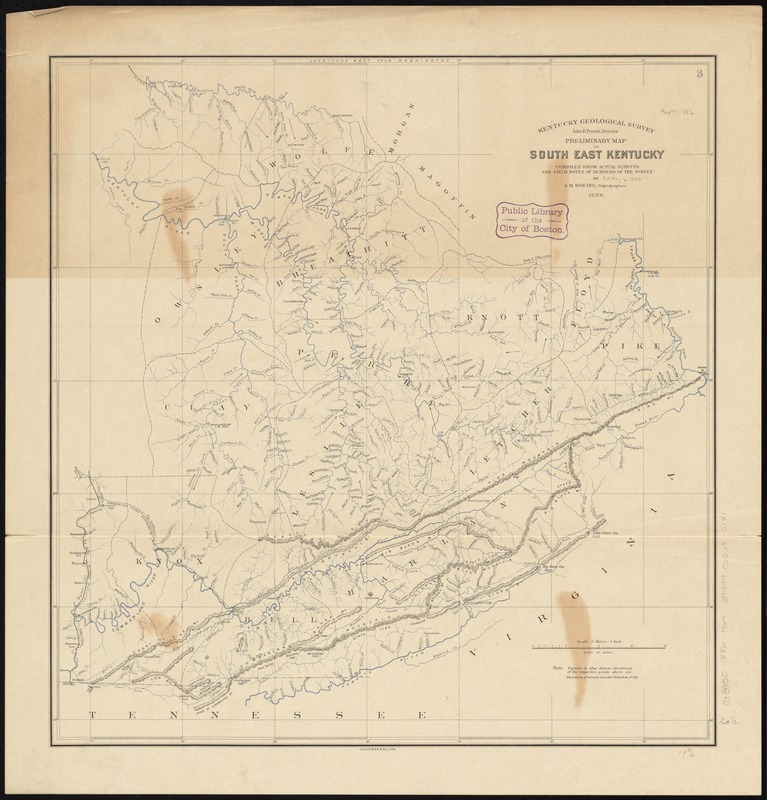 Preliminary map of south east Kentucky