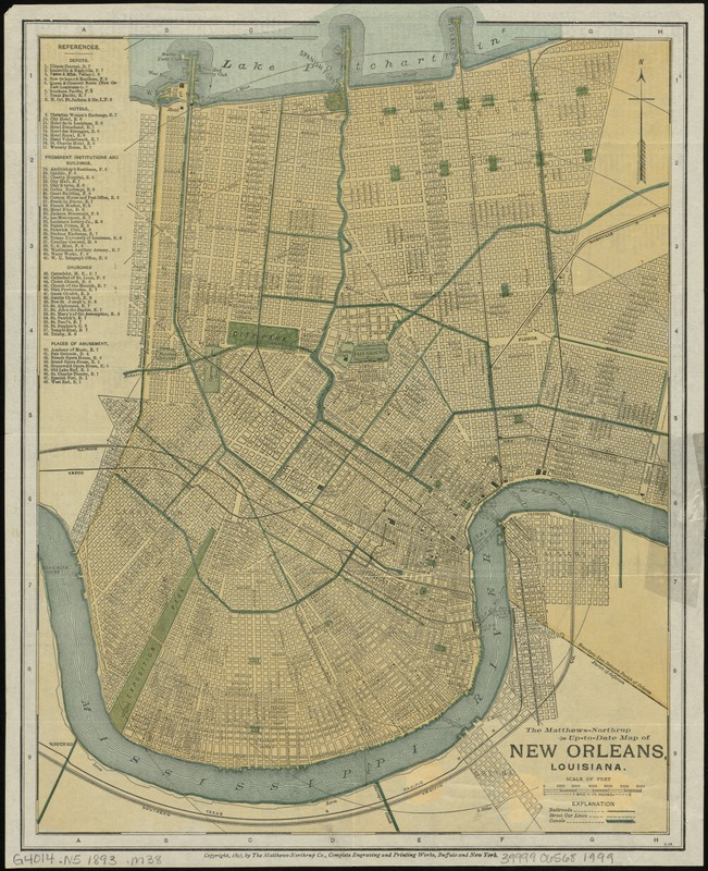The Matthews-Northrup up-to-date map of New Orleans, Louisiana