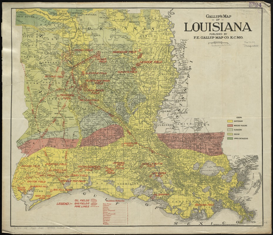 Gallup's map of Louisiana