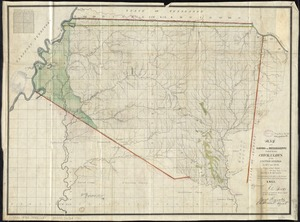 Map of the lands in Mississippi ceded by the Chickasaws to the United States in 1832 and 1834