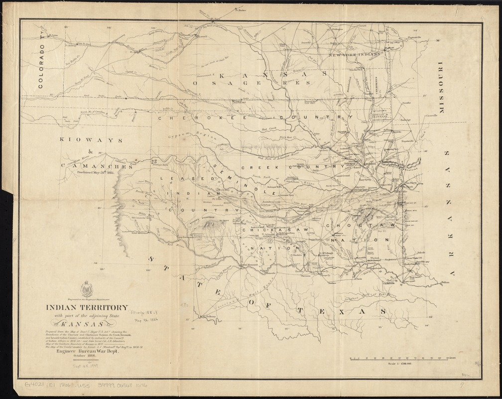 Indian Territory, with part of the adjoining state of Kansas, &c
