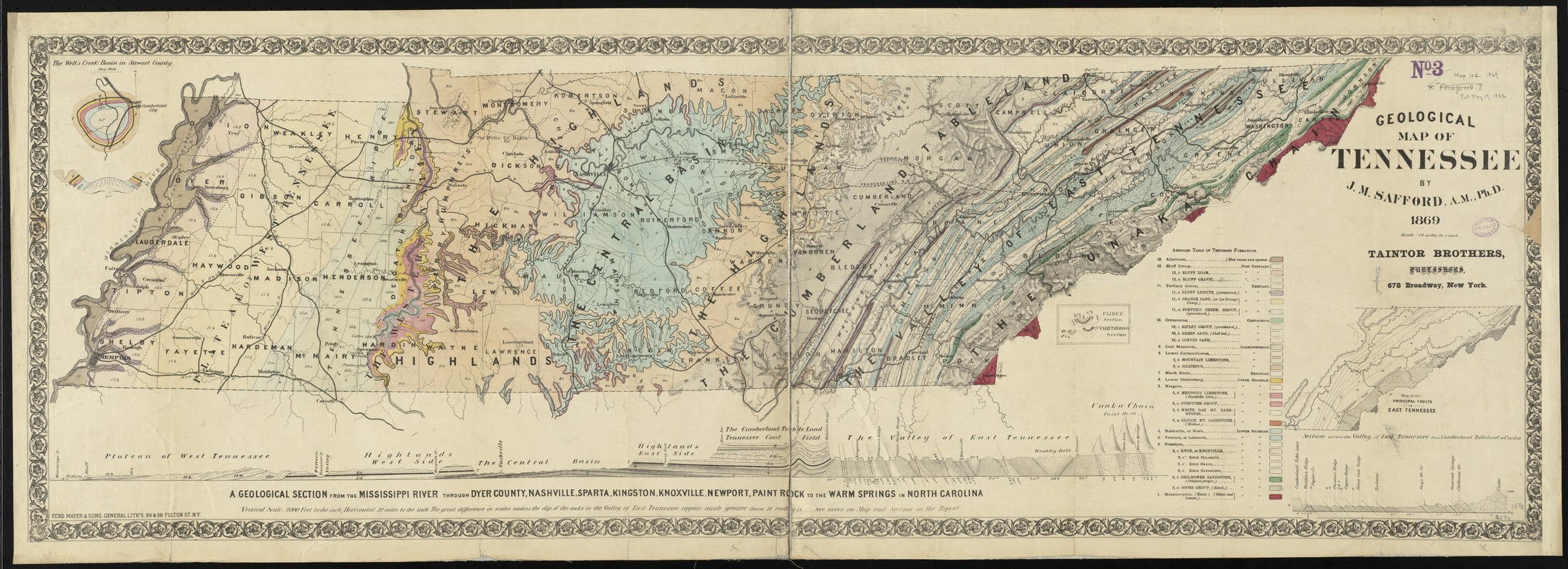 Geological map of Tennessee