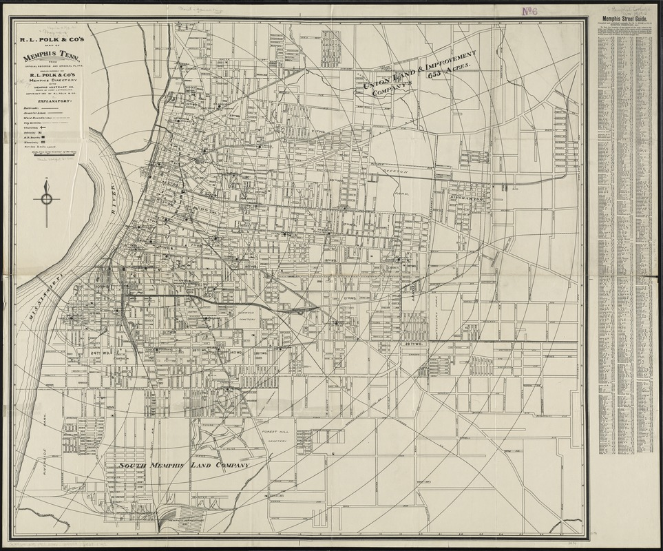 R.L. Polk & Co\'s map of Memphis, Tenn - Norman B. Leventhal Map ...