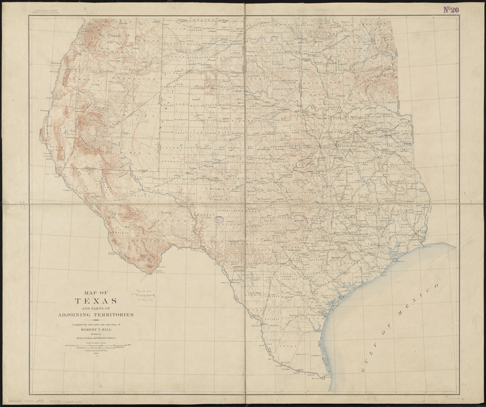 Map of Texas and parts of adjoining territories