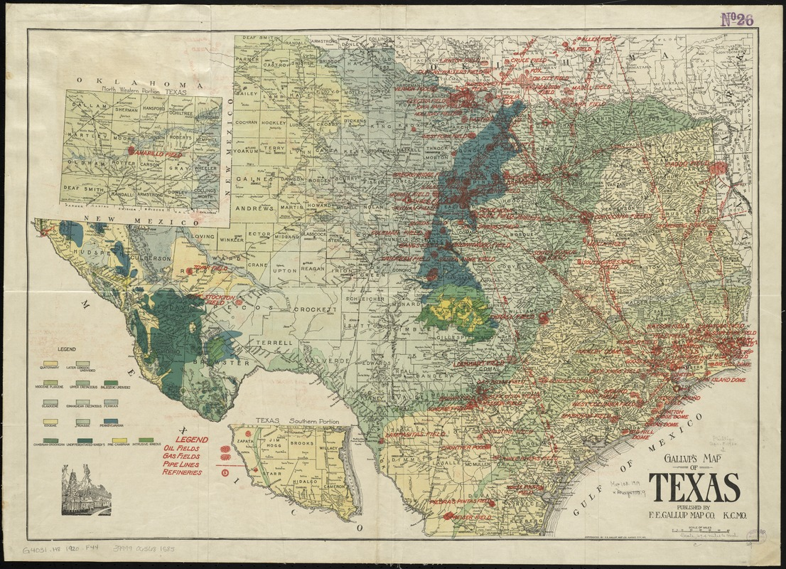 Gallup's map of Texas