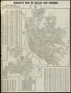 Worley's map of Dallas and suburbs