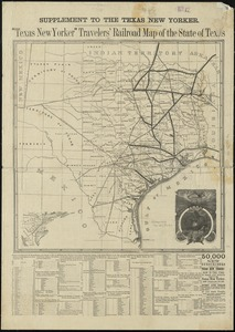 Texas New Yorker travelers' railroad map of the State of Texas