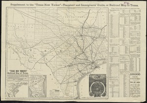 Texas New Yorker's railroad map of Texas