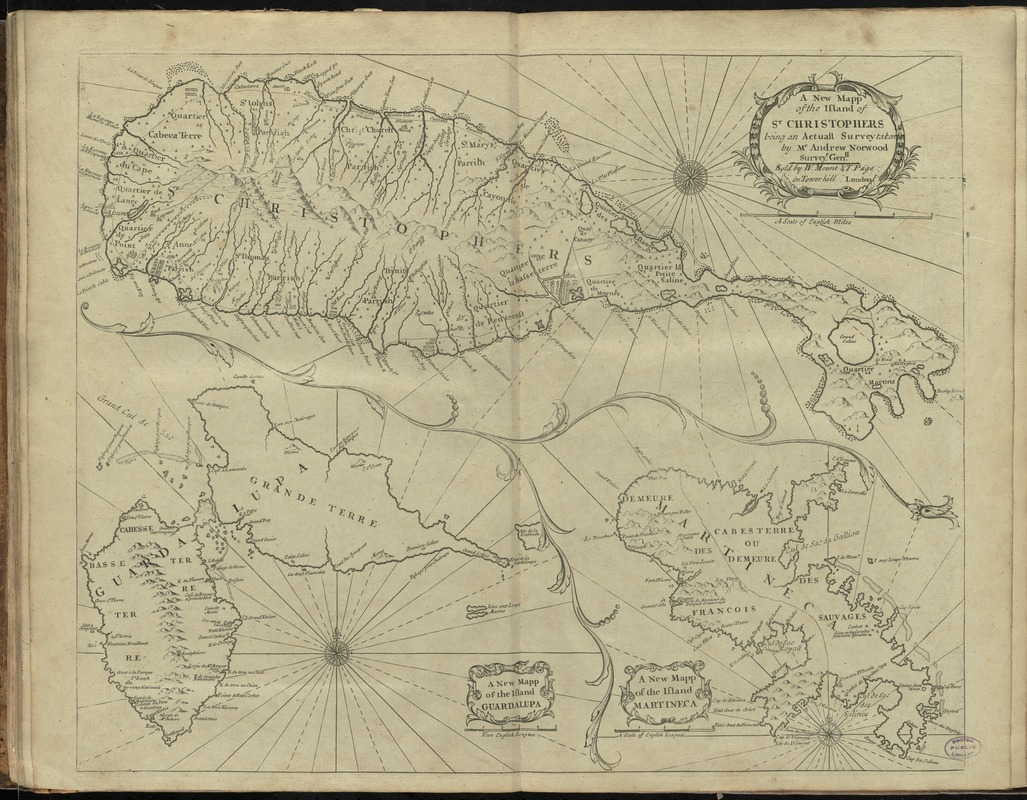 A new mapp of the island of St. Christophers