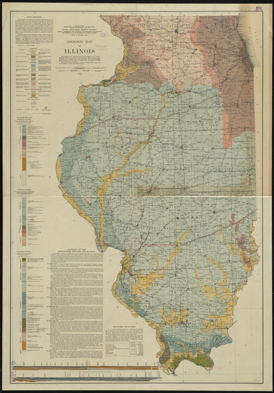 Geologic map of Illinois
