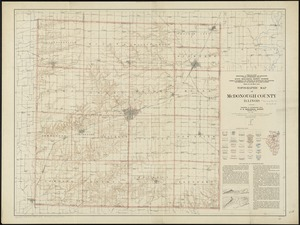 Topographic map of McDonough County, Illinois
