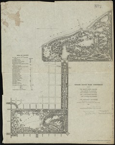 Chicago South Park Commission plan of the South Open Ground, the Upper Plaisance, the Midway Plaisance, the Lake Open Ground, the Lagoon Plaisance and the Parkway Quadrant