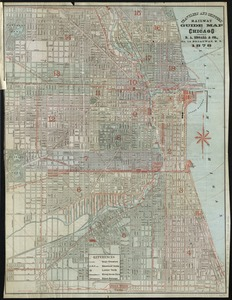 Travelers' and shippers' railway guide map of Chicago