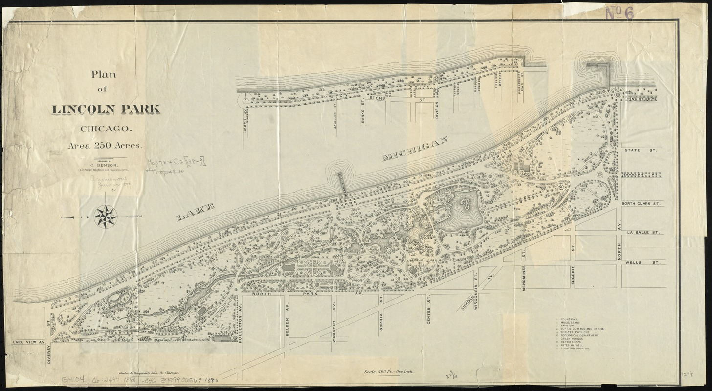 Plan of Lincoln Park, Chicago
