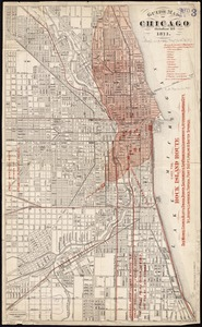 Guide map of Chicago, October 11th, 1871