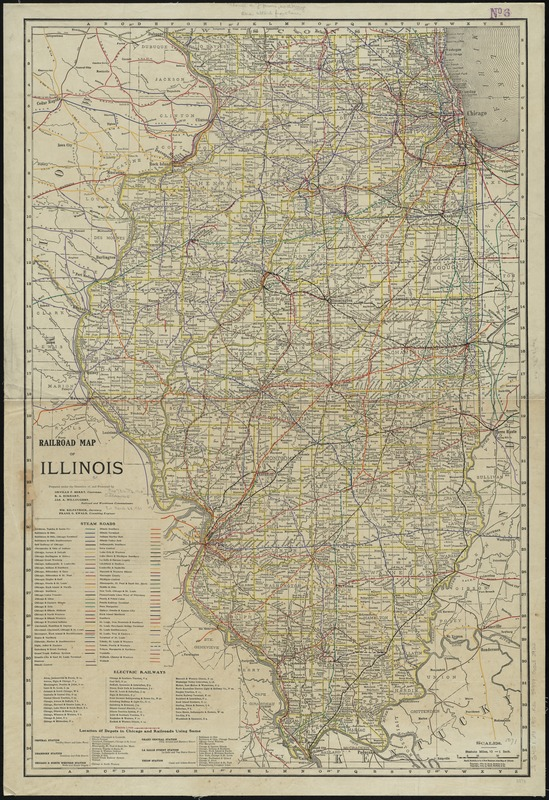 Railroad map of Illinois