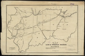 Map of the Alton & Springfield railroad, in Illinois