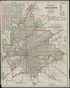 National street map of Indianapolis and environs