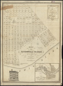 Map of Jeffersonville enlarged