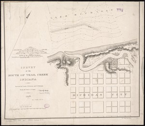 Survey of the mouth of Trail Creek, Indiana