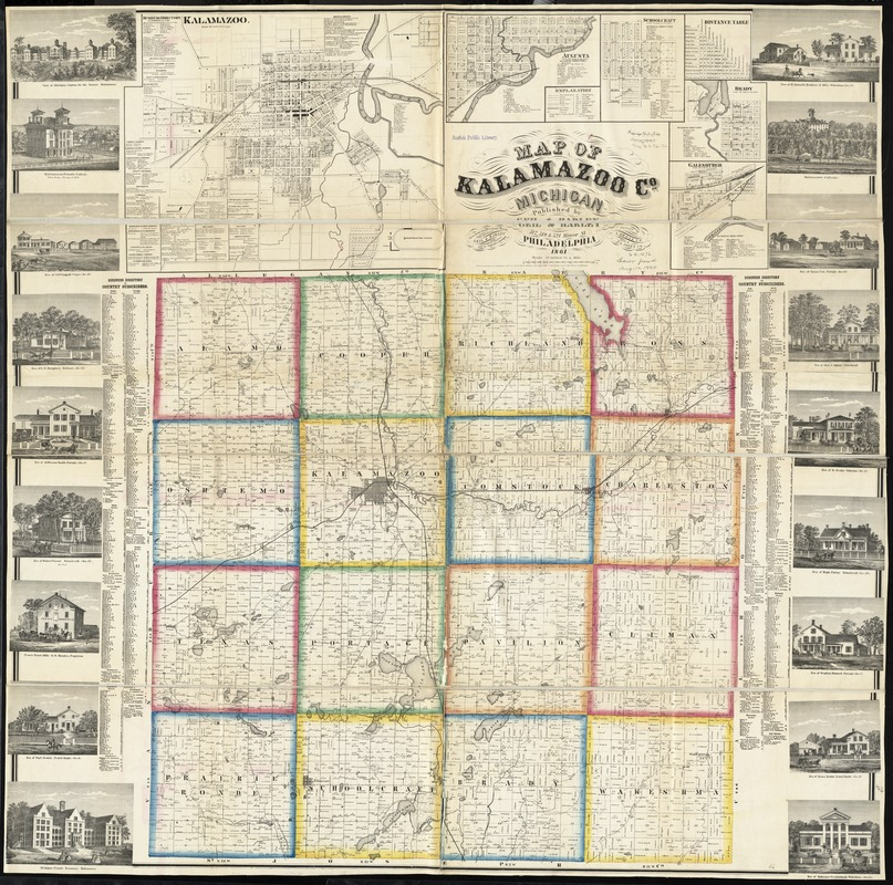 Map of Kalamazoo Co., Michigan