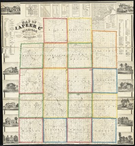 Map of Lapeer Co., Michigan