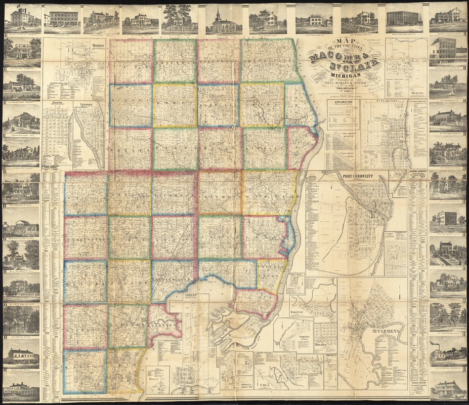 Map of the counties of Macomb & St. Clair, Michigan