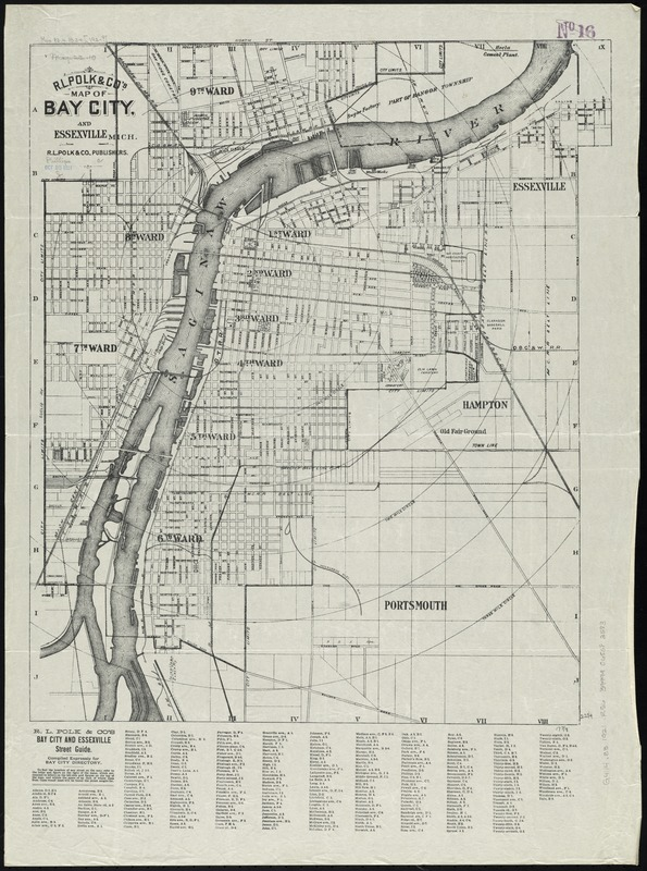 R.L. Polk & Co.'s map of Bay City, and Essexville Mich