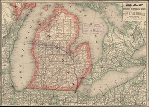 Map showing the location of the land grant of the Flint & Pere Marquette Railway Company, in Michigan