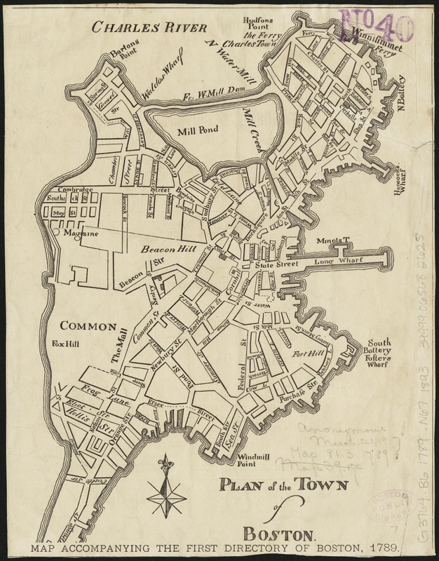 Plan of the town of Boston