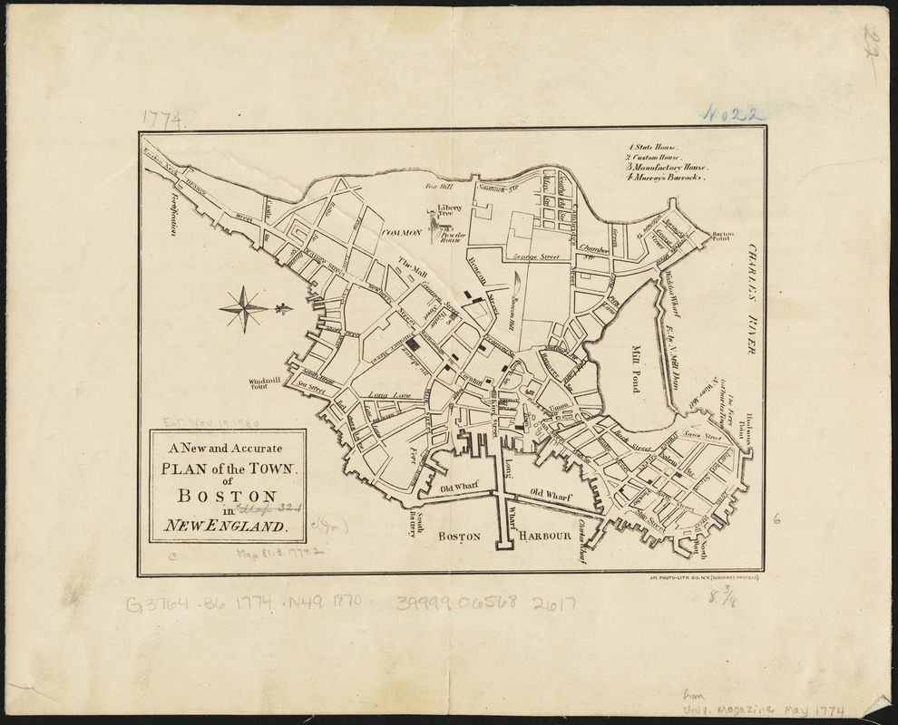 A new and accurate plan of the town of Boston in New England