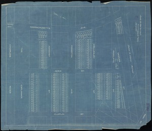 [Plan of lots in Kendall Square, Cambridge, between Massachusetts Ave., Vassar St. and Claflin St.]