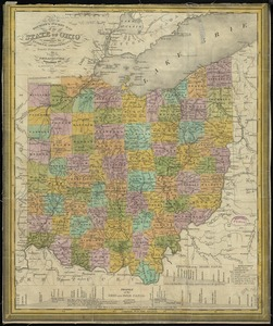 The tourist's pocket map of the state of Ohio