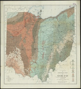 A geological map of Ohio