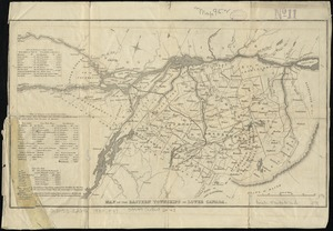 Map of the Eastern Townships of Lower Canada