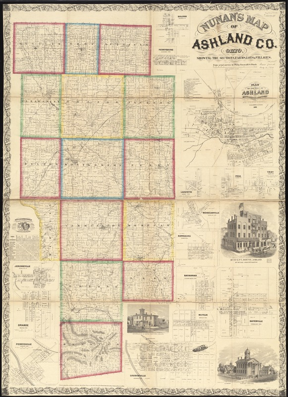 Nunan's map of Ashland Co., Ohio