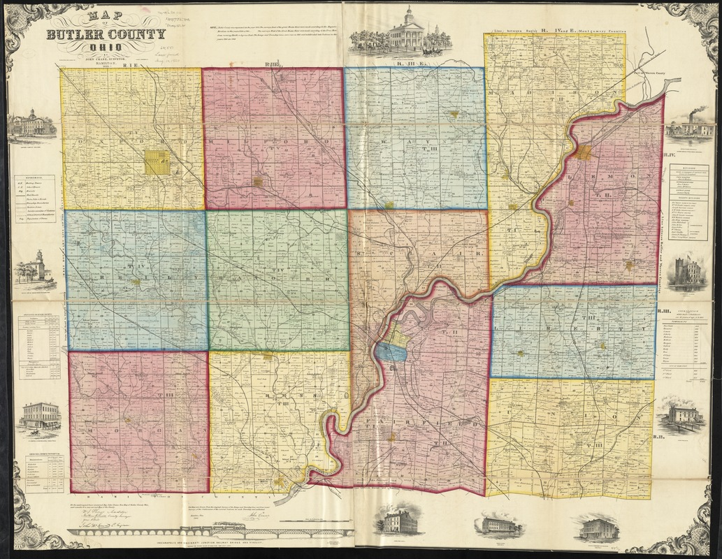 Map Of Butler County Ohio Digital Commonwealth
