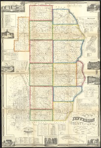 Map of Jefferson County, Ohio