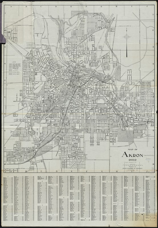 Map of Akron, Ohio