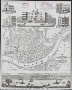 Map of Cincinnati, Covington & Newport