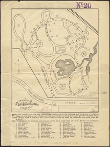 Ground plan of the Zoological Garden of Cincinnati, O
