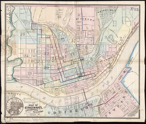 Map of Cincinnati, Covington and Newport
