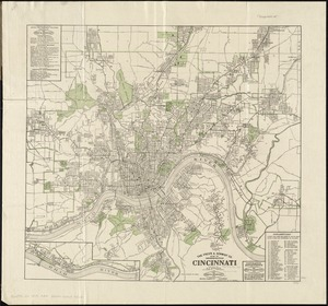 The Fred'k A. Schmidt Co. map of metropolitan Cincinnati