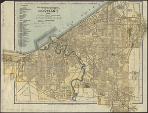 The Matthews-Northrup up-to-date map of Cleveland, Ohio