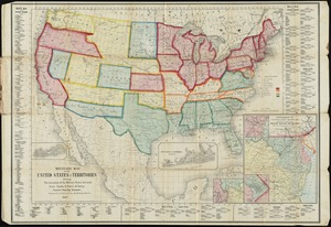 Military map of the United States & territories showing the location of the military posts, arsenals, Navy yards, & ports of entry