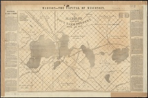 Map of Madison and the Four Lake Country, Dane Co. Wis